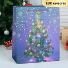 """Пакет ламинированный """"Новый год"""", люкс, 26 х 12 х 32 см"""