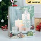 """Пакет ламинированный, """"Новогодняя композиция"""", люкс, 26 х 12 х 32 см"""