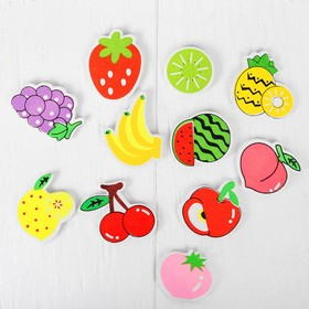"""Set of magnets """"fruits and Berries"""", 12 pieces per set, 3.5 x 3.5 cm"""