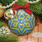 """Новогодний ёлочный шар """"С Новым годом"""" Гадкий Я с пайетками"""