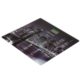"""Весы напольные HOMESTAR HS-6001E, электронные, до 180 кг, картинка """"Город"""""""