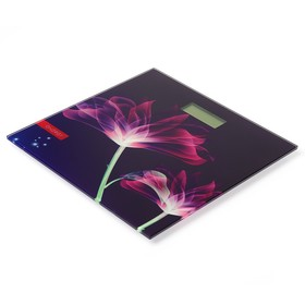 "Весы напольные ENERGY EN-419G, электронные, до 180 кг, картинка ""Цветы"""