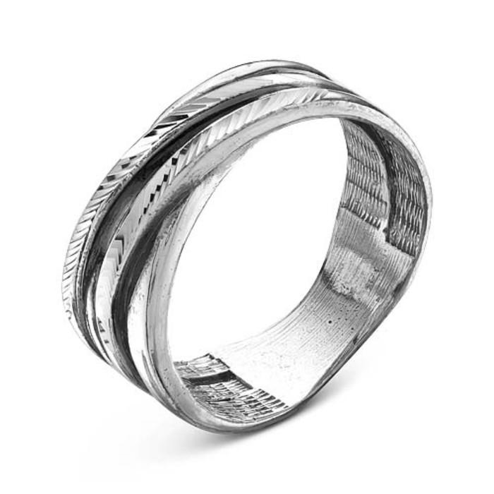 """Кольцо посеребрение """"Узлы"""", 19,5 размер"""