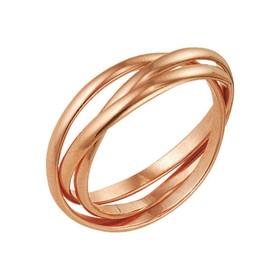 "Кольцо позолота ""Три нити"", 17,5 размер"