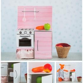 Мебель для кукол–малюток «Кухонный шкафчик», набор для шитья, 15 × 23,2 × 2,2 см