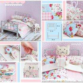 Кроватка для игрушки–малютки «Детство в деревеньке», набор для шитья, 21 × 29,7 × 1 см
