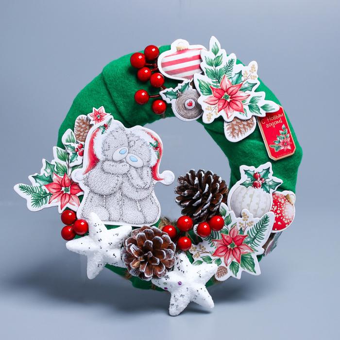 """Новогодний венок """"Рождественская сказка"""", набор для создания, Me To You"""