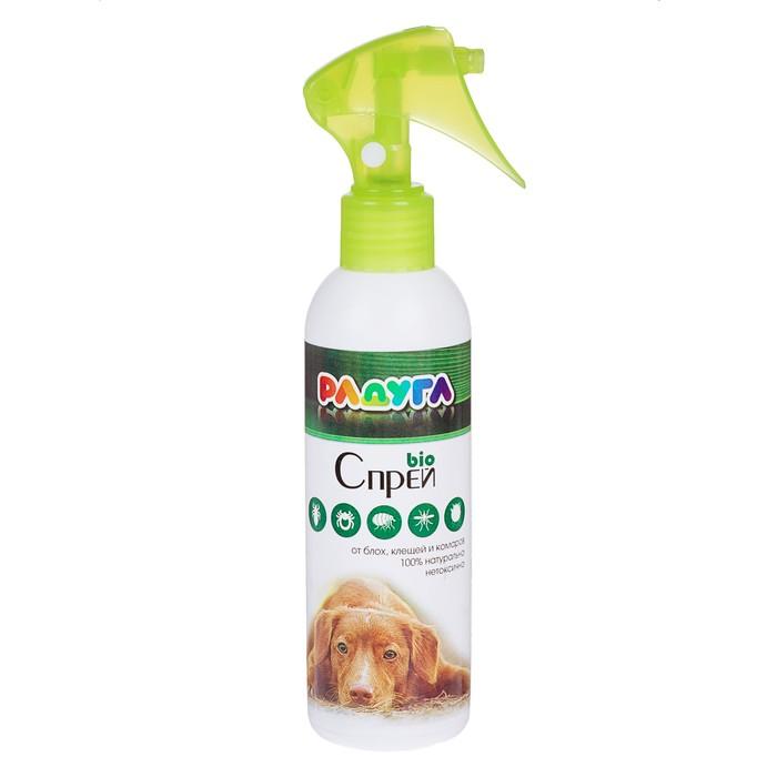 """Спрей """"Радуга БИО"""" для собак от блох, клещей, комаров, 200 мл"""