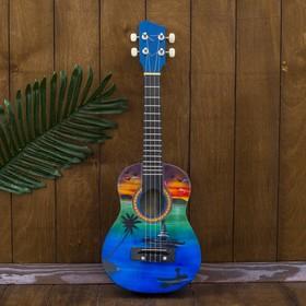 """Гитара-укулеле """"Пейзаж мечты"""" 55х20х6 см"""