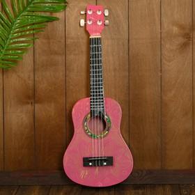 """Музыкальный инструмент гитара-укулеле """"Красное влечение"""" 55х20х6 см"""