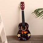 "Музыкальный инструмент гитара-укулеле ""Цветы"" 55х20х6 см"
