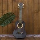 """Музыкальный инструмент гитара """"Тёмная"""" 70х23х8 см"""