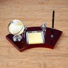 Набор настольный 4в1(глобус, блок д/бумаги, подставка д/визиток, ручка), 18х35 см
