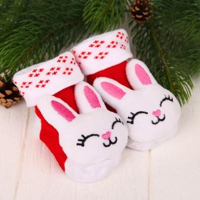Носочки-погремушки «Зайка»
