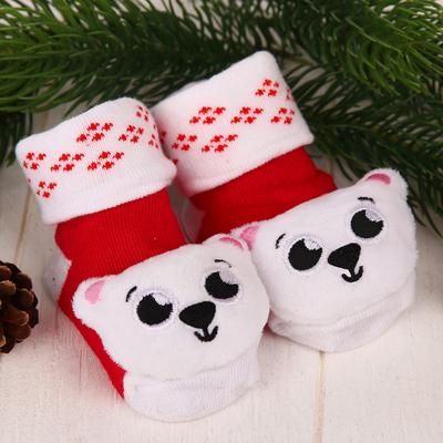 Носочки-погремушки «Мишка»