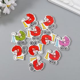 """A set of buttons decorative tree """"Kid in a wheelchair"""" a set of 10 PCs MIX 2,7x2,6 cm"""