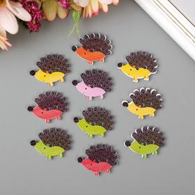 "A set of buttons decorative tree ""Little hedgehogs"" set of 10 pieces MIX 1,7x2,3 cm"