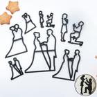 "Набор печатей для теста и марципана ""История любви"", 9 предметов - фото 308040229"