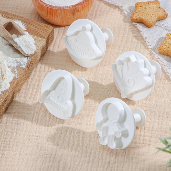 """A set of plungers confectionery """"UFO"""", 4-piece"""
