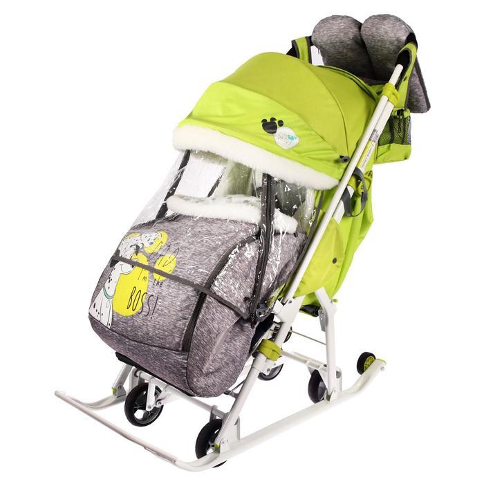 Санки-коляска «Disney-baby 2. Далматинец», цвет лимонный