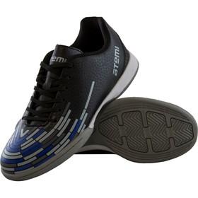 Футбольные бутсы Atemi, цвет чёрно-синий, синтетическая кожа, размер 38