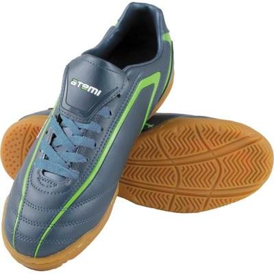 Футбольные бутсы, цвет серо-зелёный, синтетическая кожа, размер 39