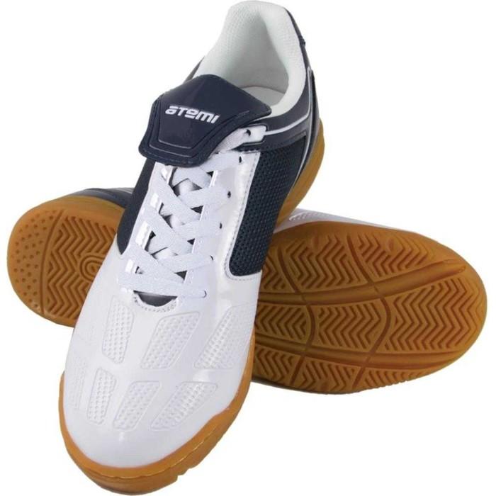 Футбольные бутсы, цвет сине-белый, синтетическая кожа, размер 44