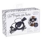 Резинки для волос «Черные грозди», набор для создания, 12 × 18 × 4 см