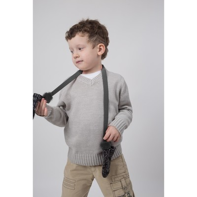 Нетеряшки детские с искусственным мехом, цвет серый