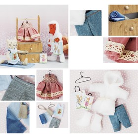 "Closet and clothes to toys babies, ""Good winter"", a sewing kit, 21 × 29,5 × 0.5 cm"