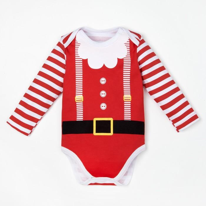 """Боди детское с длин.рук """"Santa Baby"""" рост 62-68 см. (22р-р),100% хл."""