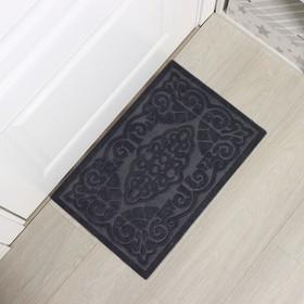 Коврик придверный без окантовки «Восточная сказка», 40×60 см, цвет серый