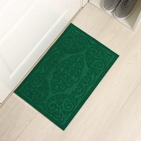 Коврик придверный без окантовки «Восточная сказка», 40×60 см, цвет зелёный