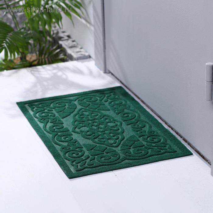 """Buy a welcome Mat without edging 40x60 cm """"Oriental tale"""", color green"""