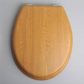 Сиденье для унитаза с крышкой «Натуральное дерево», 42×37 см