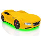 Кровать Romack Junior AMG, 1500 x 700 см,подсветка дна и фар, цвет жёлтый