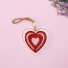 "Pendant Christmas ""Heart in glitter"", a MIX"