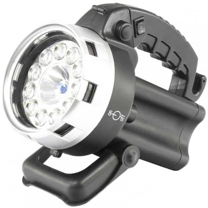 Фонарь поисковый Stern, аккумуляторный, галоген 25 Вт + 11 LED   90532