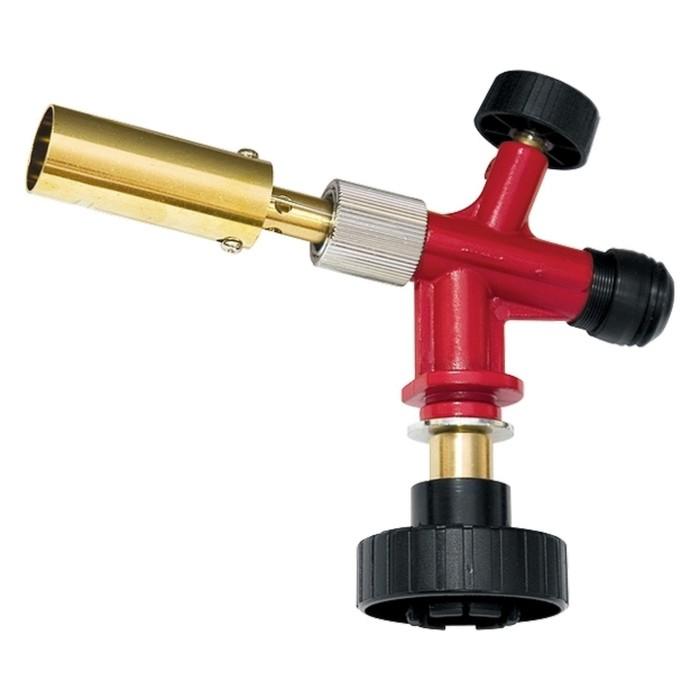 Профессиональная горелка Matrix на газовый баллон, пьезоподжиг, металл. корпус   91426