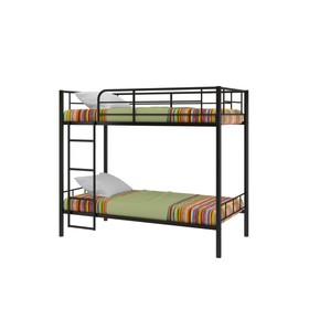 Двухъярусная кровать «Севилья 3», 2080 х 1060 х 1630 мм, цвет чёрный