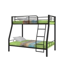 Двухъярусная кровать «Гранада 2», 2080 х 1360 х 1630 мм, цвет чёрный