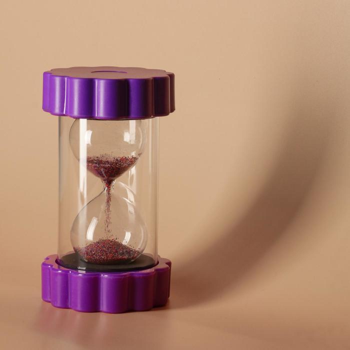 """Часы песочные """"Цветок"""", разноцветные стеклянные шарики, 9х16 см, микс"""