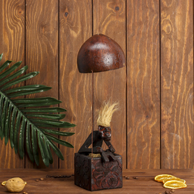 "Сувенир дерево ""Абориген на воздушном шаре"" 30х10х10 см"