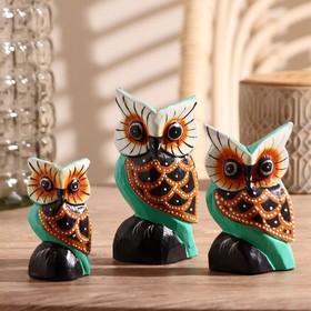 """Gift set """"Colorful owl"""" (8,10,12) 9х5х12 cm green"""