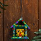 "Сувенир дерево ""Жёлтая сова в домике"" 11х5х11 см"