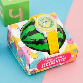 """Набор """"Енот"""", часы наручные детские, мячик"""