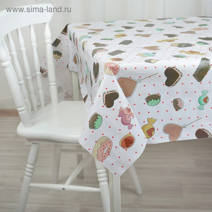 The oilcloth a dining room on a nonwoven basis, width: 137cm, thickness 0.06 mm, coil of 20 meters