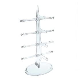 Подставка под очки 4 места, настольная 16*18,3*30 см, прозрачная Ош