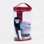 Косметичка ПВХ, отдел на молнии, с ручкой, цвет красный - фото 1770984