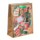 Пакет крафтовый вертикальный «Зимний набор», 23 × 27 × 8 см